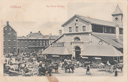 Vintage 1905-1910 - Ottawa Ontario - Ward Market - Marché - Animated Animée - Stamp - Unwritten - 2 Scans - Ottawa