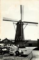 Achthuizen, Windlust, Korenmolen, Windmill, Real Photo - Watermolens