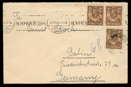 BC - Rhodesia. 1931 (NN). NR. NDOLA - Germany. Fkd Env 1d X3. - Unclassified
