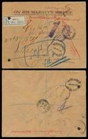 HOLYLAND. 1928. PALESTINE. Jaffa - Jerusalem Official Mail OHMS. Registered + Fwded + Taxed + Returned Incl. AJAMI B. JA - Palestine
