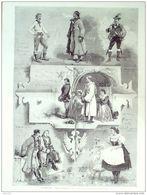 AUTRICHE-TYPES De COSTUMES-1242-1869 - Estampes & Gravures