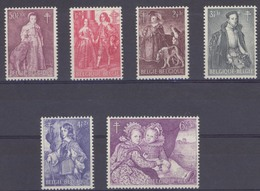 Timbres Neufs** Belgique, N°1307-12 Yt, Oeuvres Antituberculeuses, Oeuvres De Van Dyck, Erasmus Quellin, Moro, Cornelis - Ungebraucht