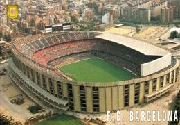 Spain, BARCELONA, Estadio Nou Camp (1980s) Stadium Postcard (3) - Fútbol