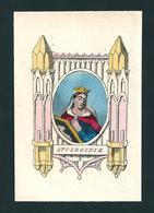 Incisione: S. VIRGINIA - E - RB - Mm. 55 X 80 - Colorata A Mano - Religion & Esotérisme