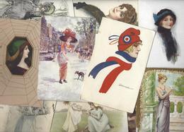 Lot 1632 De 10 CPA Femmes Girl Woman Illustrateur Déstockage Pour Revendeurs Ou Collectionneurs - Cartoline