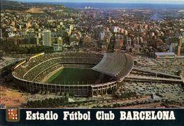 Spain, BARCELONA, Estadio Nou Camp (1980s) Stadium Postcard (2) - Fútbol
