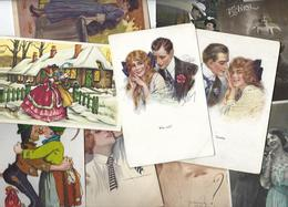 Lot 1633 De 10 CPA Couple Fantaisie Déstockage Pour Revendeurs Ou Collectionneurs - Cartoline