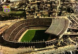Spain, BARCELONA, Estadio Nou Camp (1980s) Stadium Postcard (1) - Fútbol