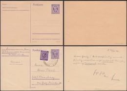 AM Zone, 6 Pf. Postal Stationery Card, Ganzsache MiNr. P 903b. SST. Grünwald München 1946. - Bizone