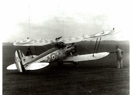 BRISTOL  BULLDOG   RAF     22 * 16.5 CM Aviation, AIRPLAIN, AVION AIRCRAFT WW2 - Aviación