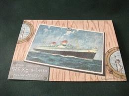 NAVE SHIP  Rex Italia Flotte Riunite ANNULLO 60° Natro Azzurrto 1933 Illustratore Giovanni Assereto TIRATURA LIMITATA - Paquebots