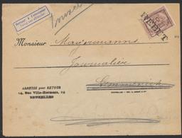 Fine Barbe - N°55 SBD Sur Bande Imprimée + Préo Bruxelles 07 Et Griffe REBUT Vers Gemmenich (Montzen) / Retour à L'envoy - 1893-1900 Thin Beard