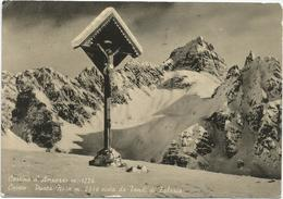 W1454 Cortina D'Ampezzo (Belluno) - Cristo - Punta Nera Vista Da Tondi Di Faloria / Viaggiata 1956 - Altre Città