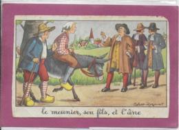 LE MEUNIER SON FILS ET L' ANE  ( Calvet-Rogniat ) Jean De La Fontaine - Picture Cards