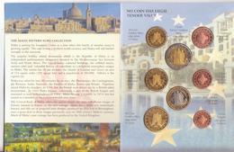 Malta-Malte-2004-Prova Euro-Divisionale 8 Valori-Try Euro-Test Euro - Essais Privés / Non-officiels