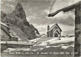 W1456 Passo Rolle (Trento) - La Chiesetta Col Cimon Della Pala - Panorama Invernale / Viaggiata 1966 - Italie