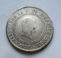 Moneta Ferdinando VII 10 Reales Resellado 1821 Rey De Las Espanas Espana Spagna - [ 1] …-1931 : Regno