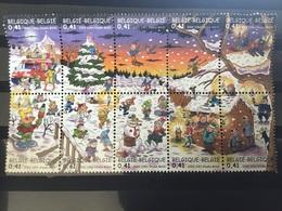 België / Belgium - Complete Sheet Kerst En Nieuwjaar 2002 - België