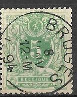 8S-425:N°45: E9: BRUGES - 1869-1888 Liggende Leeuw