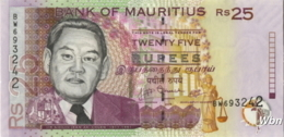 Mauritius 25 Rupees (P49d) 2009 -UNC- - Mauritius