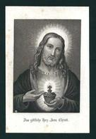 Incisione: SACRO CUORE DI GESU' - E ('800)  - RB - Mm. 88 X 133 - Religion & Esotérisme