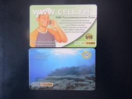2 CARDS  MICRONESIE - Micronesia