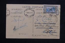 SÉNÉGAL - Affranchissement De Dakar Sur Carte Postale Pour Fontainebleau Redirigé Vers Paris En 1933 - L 23848 - Sénégal (1887-1944)