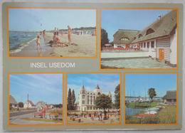 INSEL USEDOM - Multiview - Karlshagen, Strand, Ostseebad   Vg DDR - G2 - Usedom