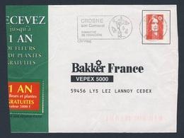France Rep. Française 1995 Bande D'adresse / Adressstreifen - Crosne, Son Carnaval - Dimanche De Pentecôte / Karnaval - Carnaval