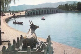 CARTOLINA - POSTCARD - CINA - THE BRONZE OX BY THE SEVENTEEN-A RCH BRIDGE THE SUMMER PALACE PEKING - Cina