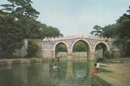 CARTOLINA - POSTCARD - CINA - THREE-A RCH BRIDGE SPANNING THE BACK LAKE, THE SUMMER PALACE PEKING - Cina