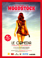 CP / WOODSTOCK / Le Comédia / 1969, Hippies, Peace And Love, Jeune Fille Avec Guitare, Combi Wolkswagen (au Verso) - Musica E Musicisti
