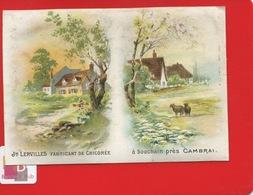 CAMBRAI BOUCHAIN CHCORÉE LERVILLES Chromo Calendrier Complet 1891 Paysage Campagne - Calendars