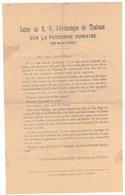 TOULOUSE HISTOIRE GUERRE 39/45 MILITARIA TRACT ARCHEVÊQUE DEFENSE JUIFS CAMPS De NOE Et RECEBEDON ANTISEMITISME GESTAPO - Historical Documents