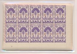 CP-20: MADAGASCAR: Lot Avec N°265/278**-290/297** En Blocs De 10 - Réunion (1852-1975)
