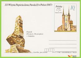 Voyo POLAND POLOGNE PC  1987  John Paul II  3rd Visit To Poland GDANSK DANZIG  MINT - Postwaardestukken