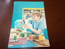 B636  Bambini Pezzi Di Carta Incollati Al Retro - Bambini