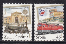 SERBIA Trains Railway MNH** - Eisenbahnen