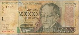 Venezuela : 20000 Bolívares 2001 - Venezuela