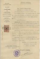 Mairie De Chartres . Arrêté De Nomination De Garde-champêtre 1925 . Timbre De Dimension . Signé Du Maire Maurice Vidon . - Vieux Papiers