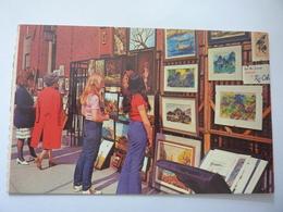 "Cartolina ""NEW YORK CITY Greenwich Village. Village Sidewalk Artists""  Anni ' 60 - Greenwich Village"