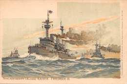 KAISER WILHELM III~SCHLACHTSCHIFF I. KLASSE~GERMAN WAR SHIP~OTTMAR ZEIHER PHOTO POSTCARD 39322 - Krieg