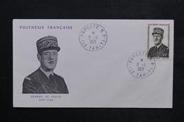 POLYNÉSIE - Enveloppe FDC Du Général De Gaulle En 1971 - L 23855 - FDC