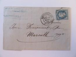 France - Timbre Napoléon III 20c YT N°29B Sur Lettre - Montpellier Vers Marseille - Ob. GC ? - Mars 1869 - 1849-1876: Période Classique