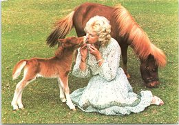 Animals - Horses, Lady Fisher With Falabella Miniature Horse Foal And Its Mother - Horses