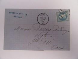 France - Timbre Napoléon III 20c YT N°29B Sur Lettre - Angers Vers St Dié - Ob. GC ?? - Septembre 1868 - 1849-1876: Période Classique