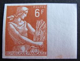R1949/47 - 1957 - TYPE MOISSONNEUSE - N°1115 NEUF** BdF NON DENTELE - France