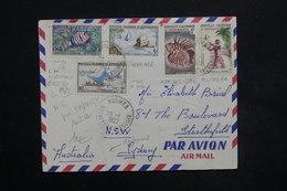 NOUVELLE CALÉDONIE - Enveloppe De Nouméa Pour Sydney En 1963 , Affranchissement Plaisant - L 23865 - Briefe U. Dokumente