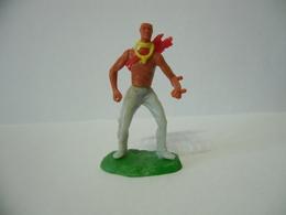 Soldatino Elastolin Indiano Western Cowboy Plastic Figure Vintage - Figurines