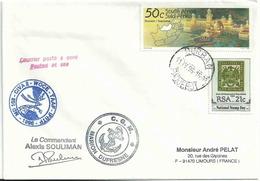 YT 953 - Cité Perdue - YT 716 - Reproduction D'un Timbre De 1869 - Escale Du Marion Dufresne à Durban - Afrique Du Sud (1961-...)